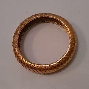 Vintage ESCADA matte gold bangle bracelet